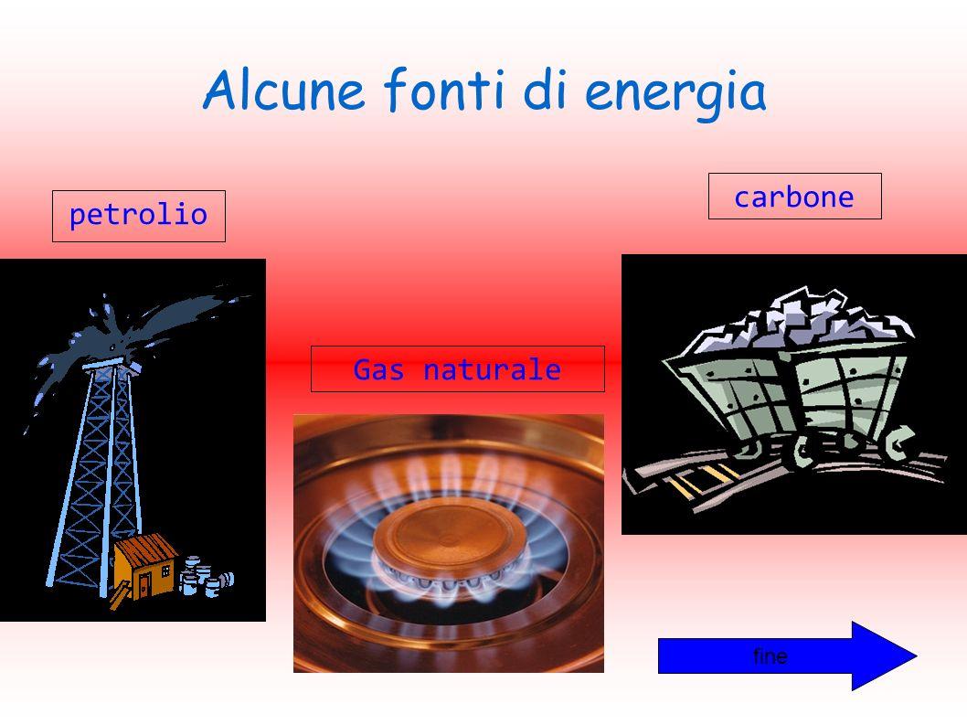 Alcune fonti di energia petrolio carbone Gas naturale fine