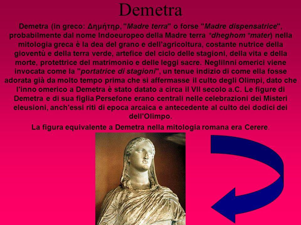 Demetra Demetra (in greco: Δημήτηρ,