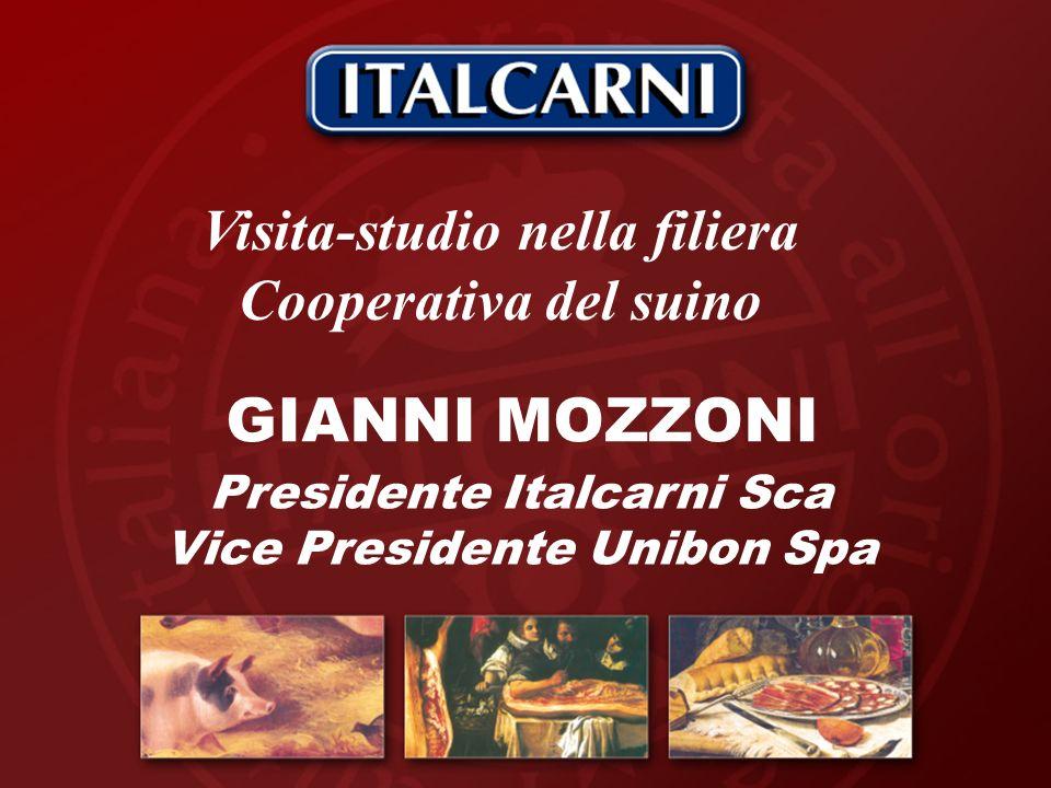 GIANNI MOZZONI Presidente Italcarni Sca Vice Presidente Unibon Spa Visita-studio nella filiera Cooperativa del suino