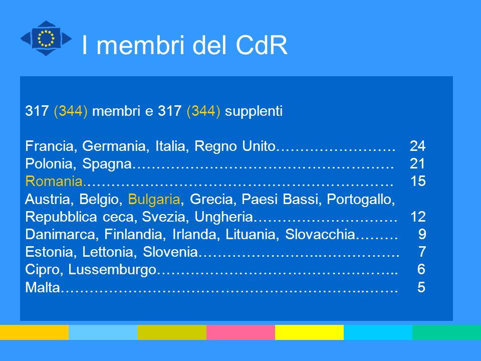 317 (344) membri e 317 (344) supplenti Francia, Germania, Italia, Regno Unito…………………….24 Polonia, Spagna………………………………………………21 Romania.……………………………………………
