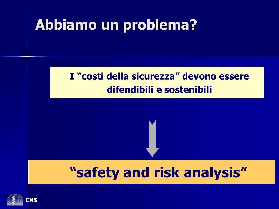 Abbiamo un problema? I costi della sicurezza devono essere difendibili e sostenibili I costi della sicurezza devono essere difendibili e sostenibili s