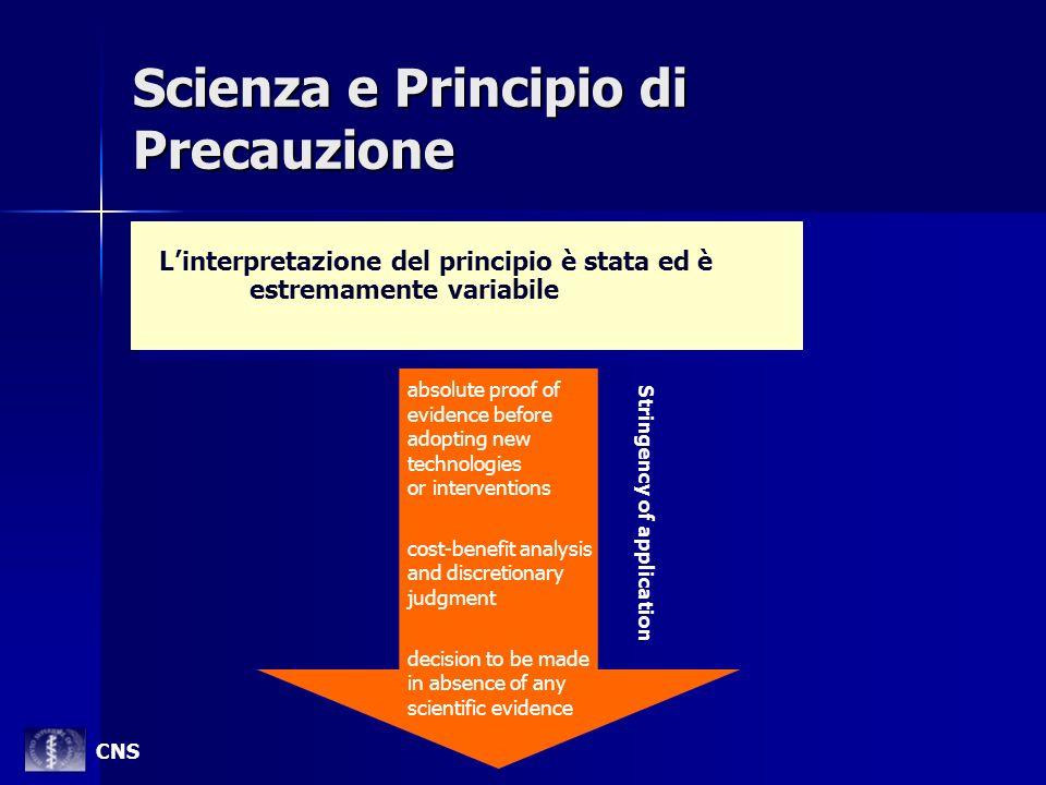 Scienza e Principio di Precauzione Linterpretazione del principio è stata ed è estremamente variabile absolute proof of evidence before adopting new t