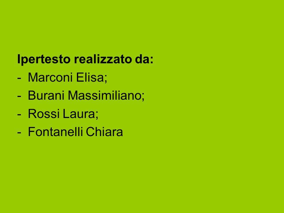 Ipertesto realizzato da: -Marconi Elisa; -Burani Massimiliano; -Rossi Laura; -Fontanelli Chiara