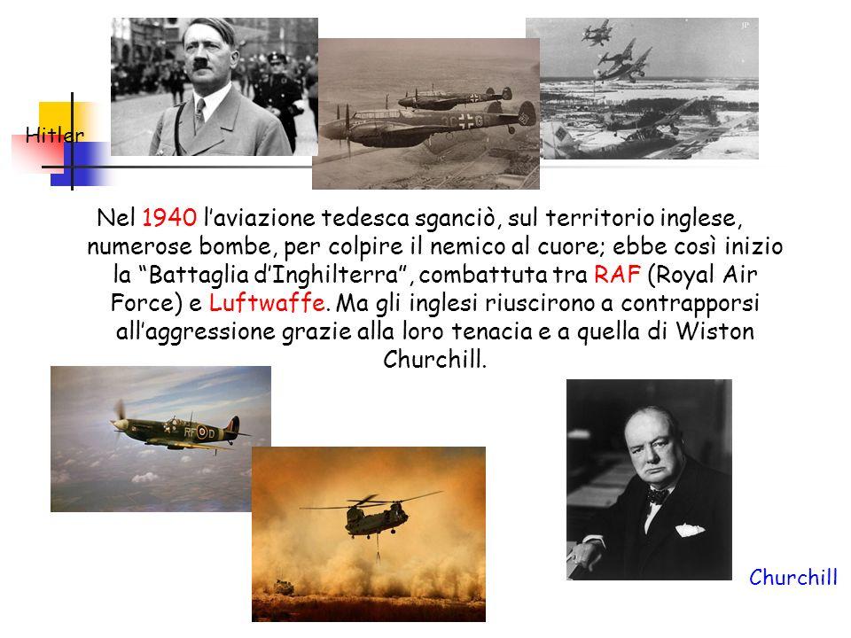 Nel 1940 laviazione tedesca sganciò, sul territorio inglese, numerose bombe, per colpire il nemico al cuore; ebbe così inizio la Battaglia dInghilterr