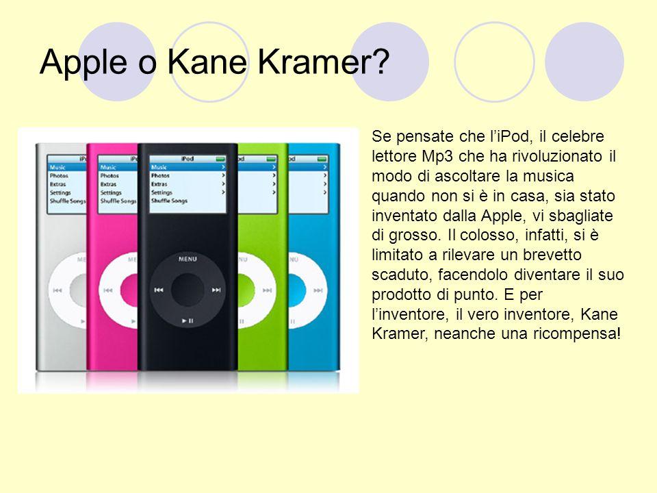 Apple o Kane Kramer? Se pensate che liPod, il celebre lettore Mp3 che ha rivoluzionato il modo di ascoltare la musica quando non si è in casa, sia sta