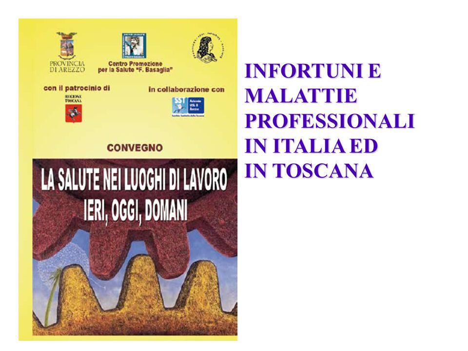 INFORTUNI E MALATTIE PROFESSIONALI IN ITALIA ED IN TOSCANA