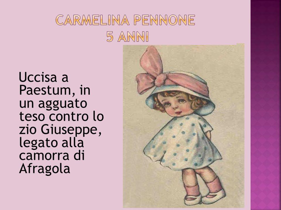 15 settembre 1990, massacrato in casa sua, a Casola vicino Castellammare di Stabia, con un fucile automatico insieme al padre Antonio, un netturbino incensurato di 36 anni.