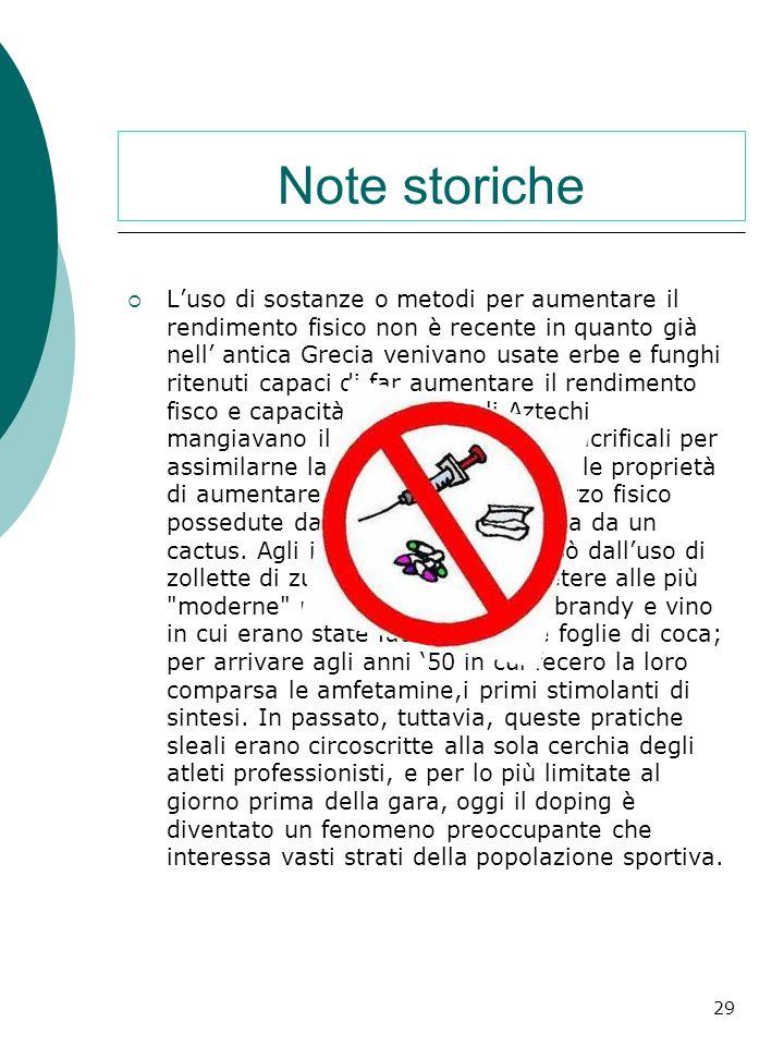 Storia del doping Doping e un termine inglese che tradotto in italiano significa grosso modo, fare uso di droghe o sostanze stupefacenti, mentre nell