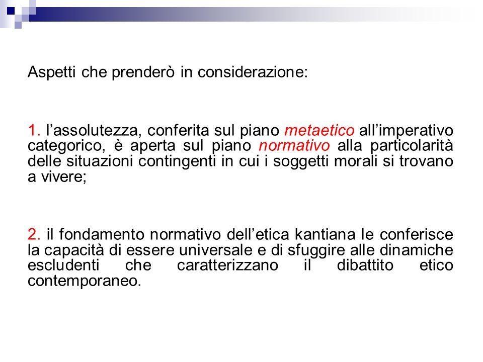Precisazione preliminare: possibile individuare nella produzione morale di Kant due livelli di indagine: 1) livello metaetico: tentativo di formulare principio morale a priori; 2) livello normativo: contiene il sistema dei doveri.