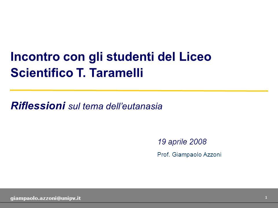 1 giampaolo.azzoni@unipv.it 19 aprile 2008 Prof.