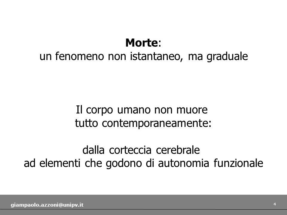 5 giampaolo.azzoni@unipv.it Morte biologica vs.