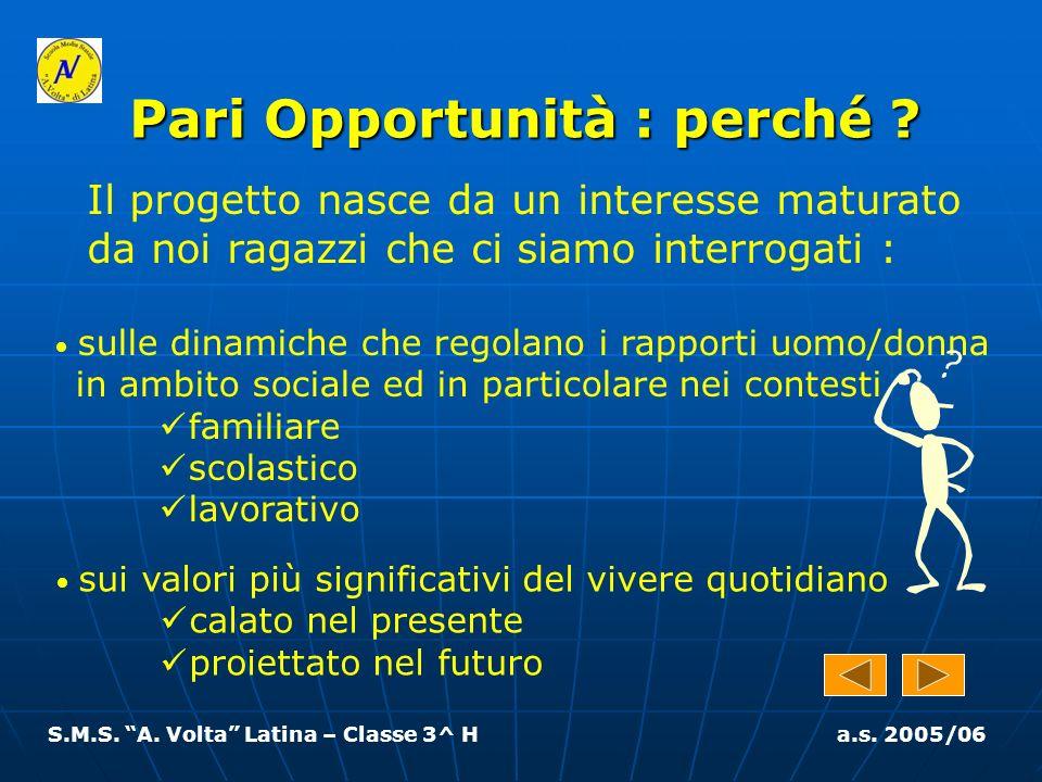 S.M.S. A. Volta Latina – Classe 3^ H a.s. 2005/06 Il lavoro deve…