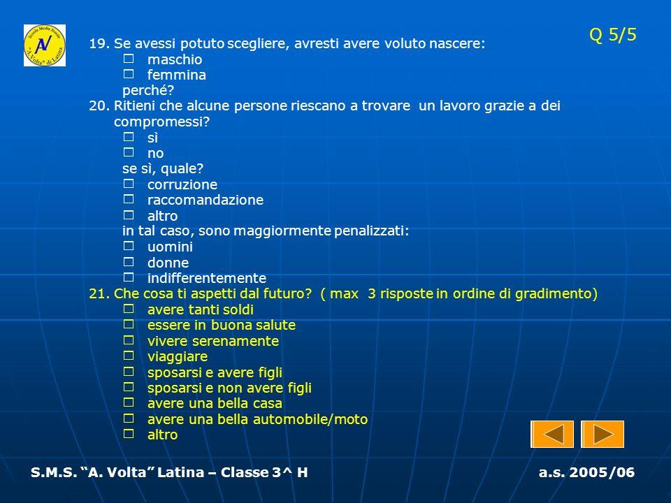 S.M.S. A. Volta Latina – Classe 3^ H a.s. 2005/06