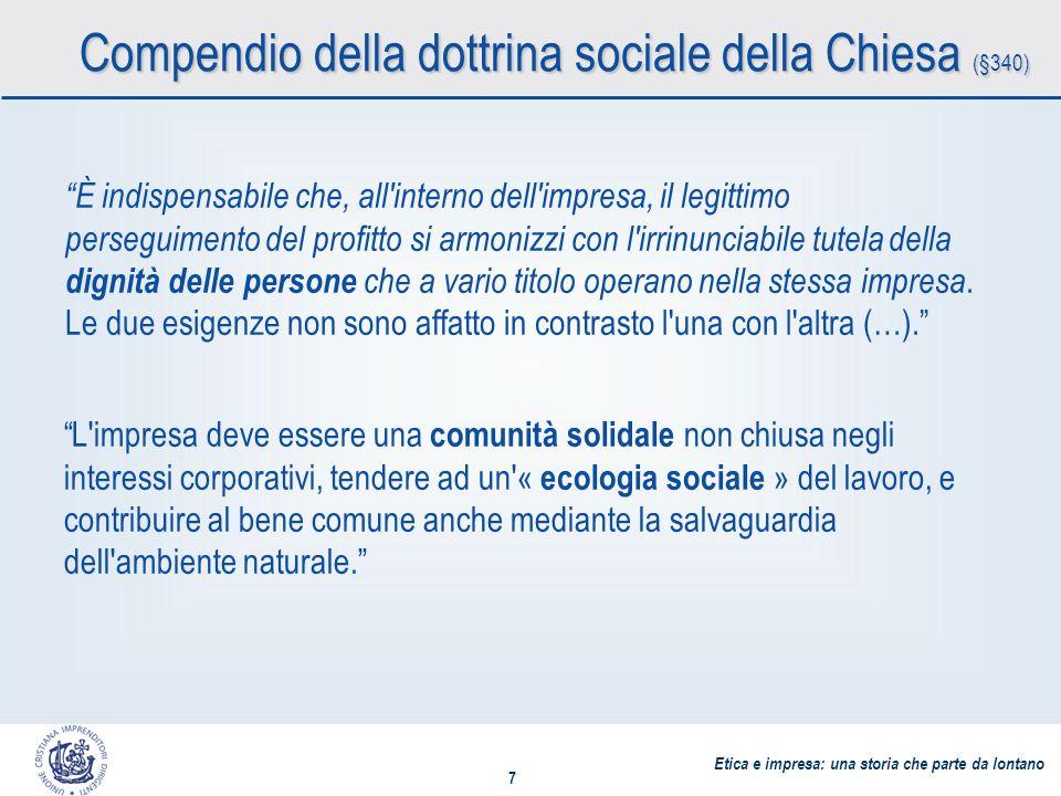 Etica e impresa: una storia che parte da lontano 8 La domanda centrale per la CSR A chi risponde unimpresa.
