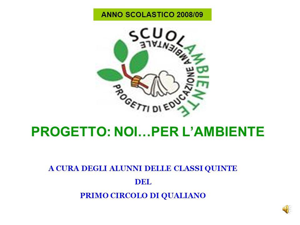 PROGETTO: NOI…PER LAMBIENTE Il progetto NOI … PER LAMBIENTEha coinvolto un gruppo di alunni delle classi quinte del primo circolo di Qualiano.
