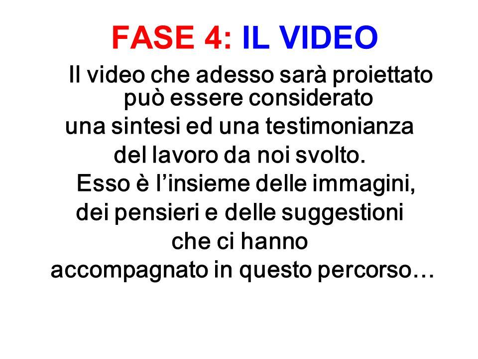 FASE 4: IL VIDEO Il video che adesso sarà proiettato può essere considerato una sintesi ed una testimonianza del lavoro da noi svolto.