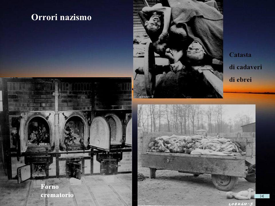 Forno crematorio Catasta di cadaveri di ebrei Orrori nazismo