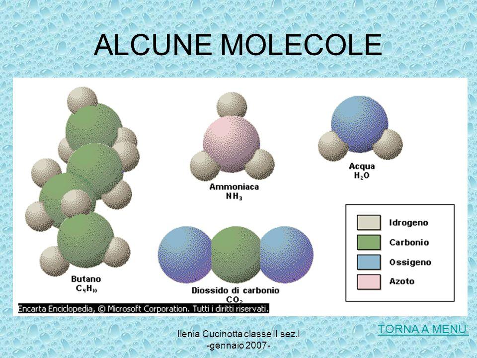 Ilenia Cucinotta classe II sez.I -gennaio 2007- ALCUNE MOLECOLE TORNA A MENU