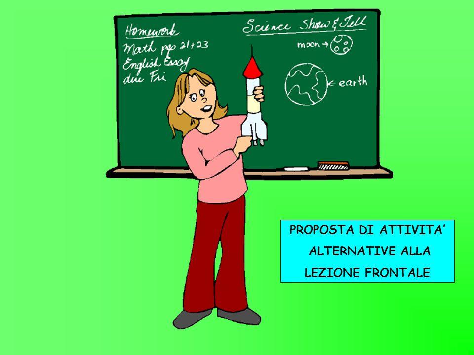 PROPOSTA DI ATTIVITA ALTERNATIVE ALLA LEZIONE FRONTALE