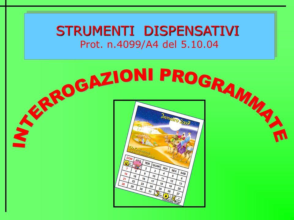 STRUMENTI DISPENSATIVI Prot. n.4099/A4 del 5.10.04 STRUMENTI DISPENSATIVI Prot. n.4099/A4 del 5.10.04