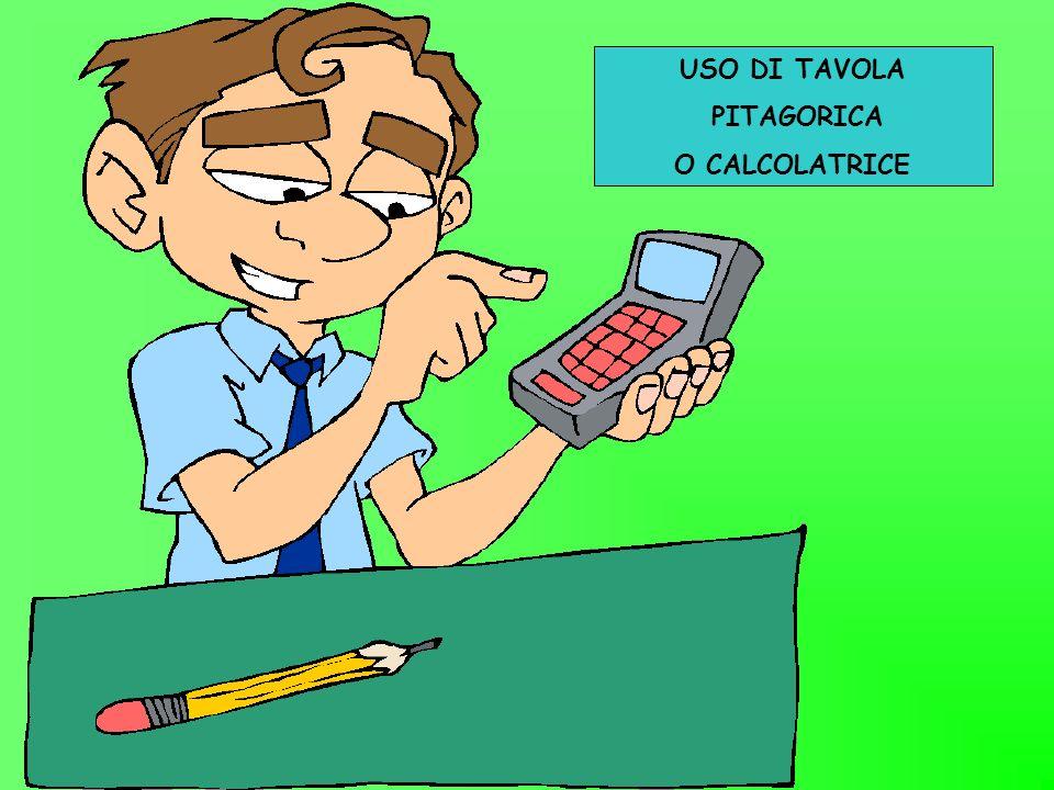 USO DI TAVOLA PITAGORICA O CALCOLATRICE