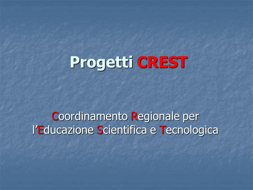 Progetti CREST Coordinamento Regionale per lEducazione Scientifica e Tecnologica