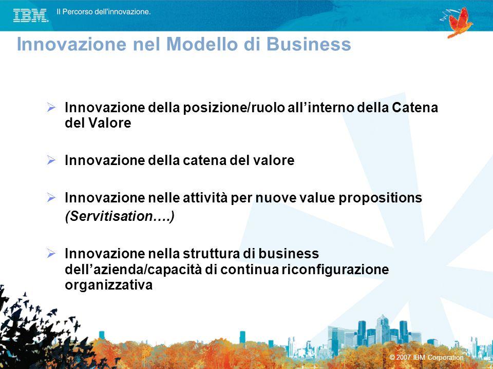 Innovazione della posizione/ruolo allinterno della Catena del Valore Innovazione della catena del valore Innovazione nelle attività per nuove value pr