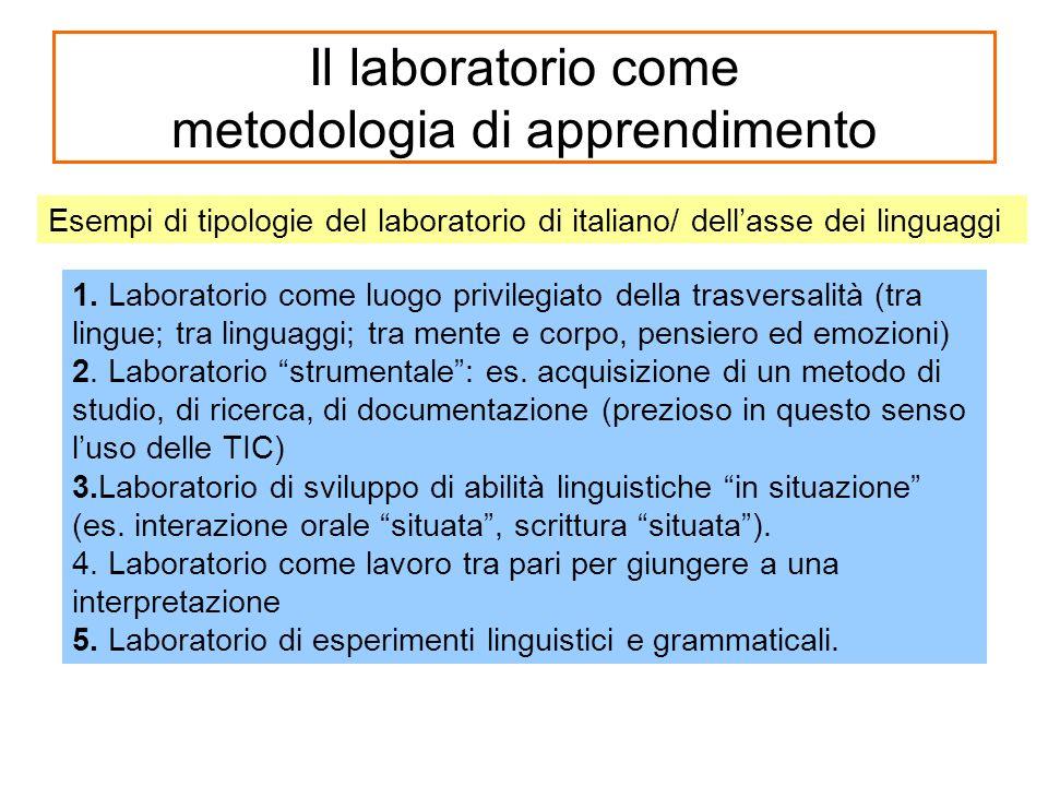 Il laboratorio come metodologia di apprendimento 1.