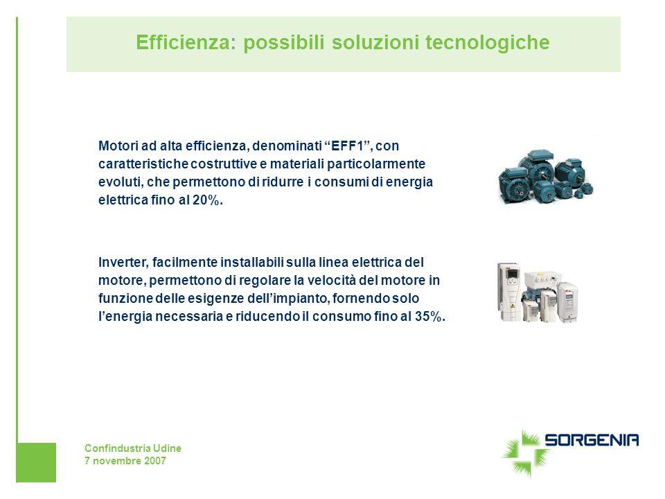 Confindustria Udine 7 novembre 2007 Efficienza: possibili soluzioni tecnologiche Motori ad alta efficienza, denominati EFF1, con caratteristiche costr