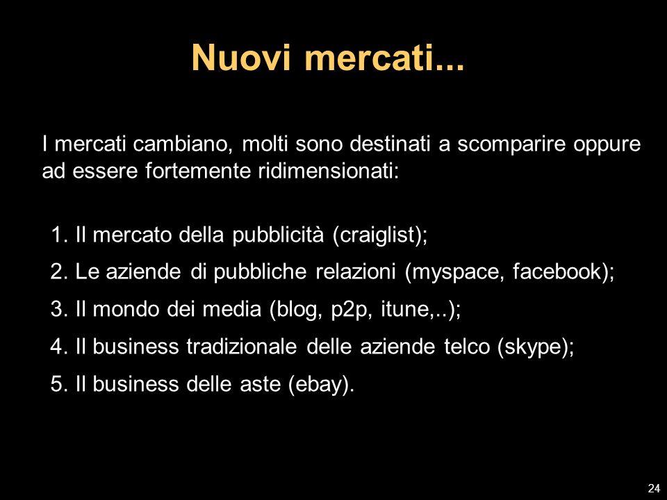 Source: Gartner, 2007 Nuovi modelli di business...