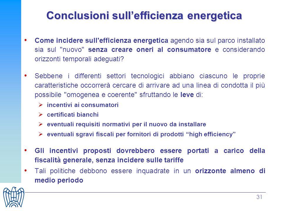 31 Come incidere sull'efficienza energetica agendo sia sul parco installato sia sul