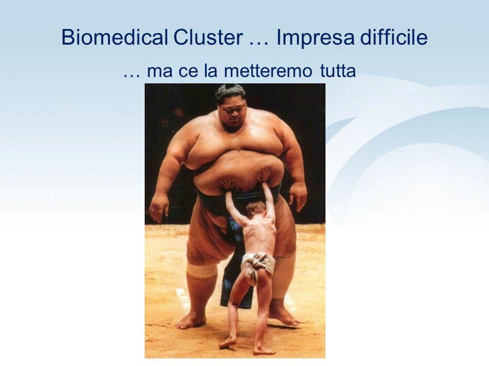 Biomedical Cluster … Impresa difficile … ma ce la metteremo tutta