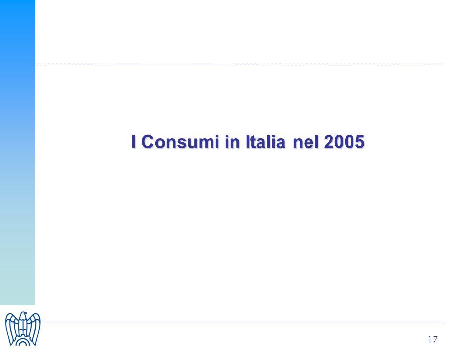 17 I Consumi in Italia nel 2005