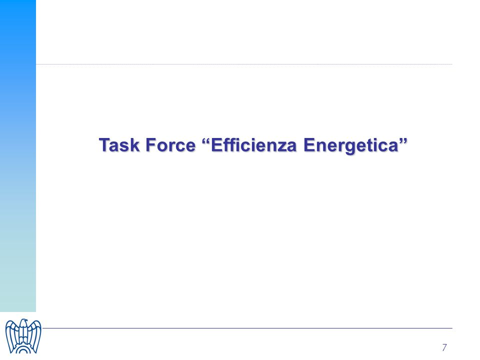 7 Task Force Efficienza Energetica