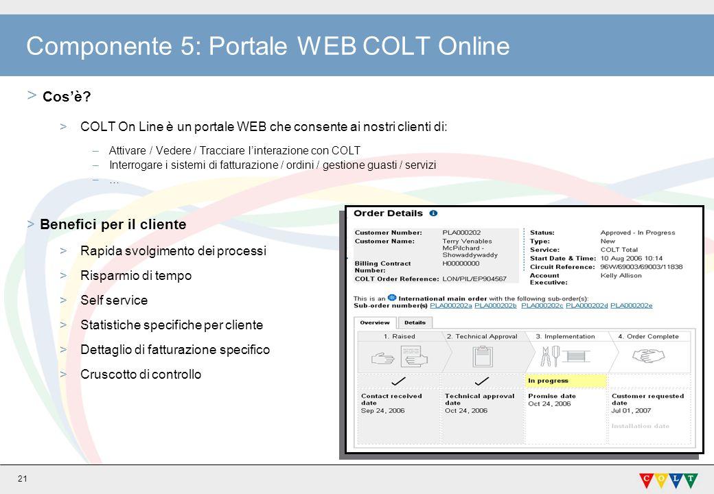 21 Componente 5: Portale WEB COLT Online > Cosè.