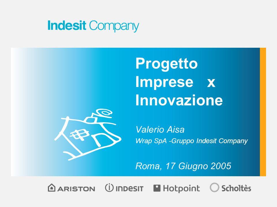 Progetto Imprese x Innovazione Valerio Aisa Wrap SpA -Gruppo Indesit Company Roma, 17 Giugno 2005
