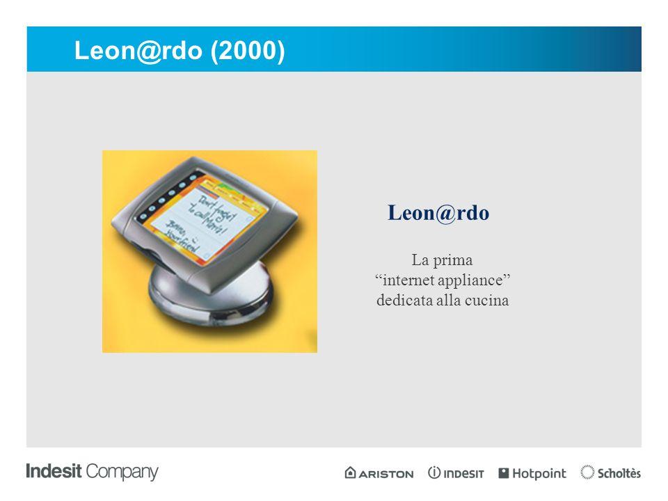 Leon@rdo La prima internet appliance dedicata alla cucina Leon@rdo (2000)
