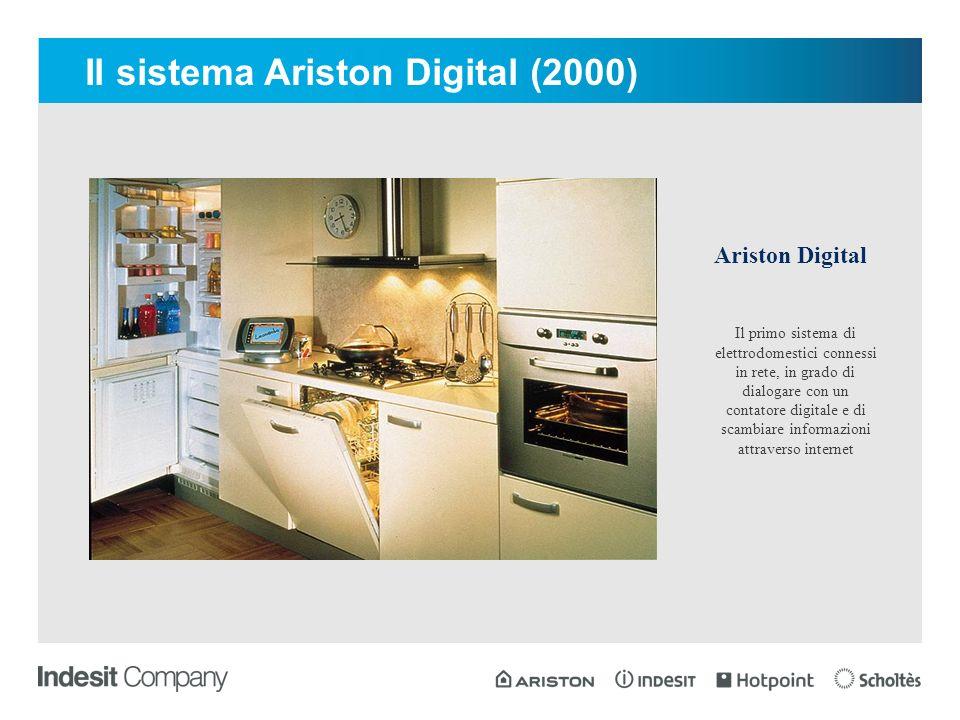 Il primo sistema di elettrodomestici connessi in rete, in grado di dialogare con un contatore digitale e di scambiare informazioni attraverso internet Ariston Digital Il sistema Ariston Digital (2000)