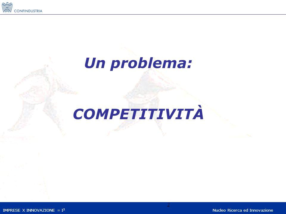 IMPRESE X INNOVAZIONE = I 3 Nucleo Ricerca ed Innovazione 13 IL MODELLO ITALIANO: INNOVAZIONE SENZA RICERCA.