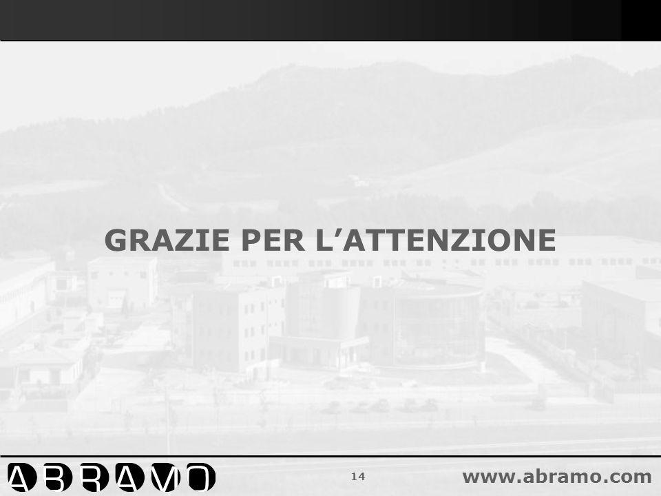 14 www.abramo.com GRAZIE PER LATTENZIONE