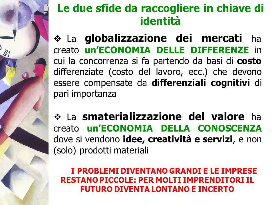 La globalizzazione dei mercati ha creato unECONOMIA DELLE DIFFERENZE in cui la concorrenza si fa partendo da basi di costo differenziate (costo del la