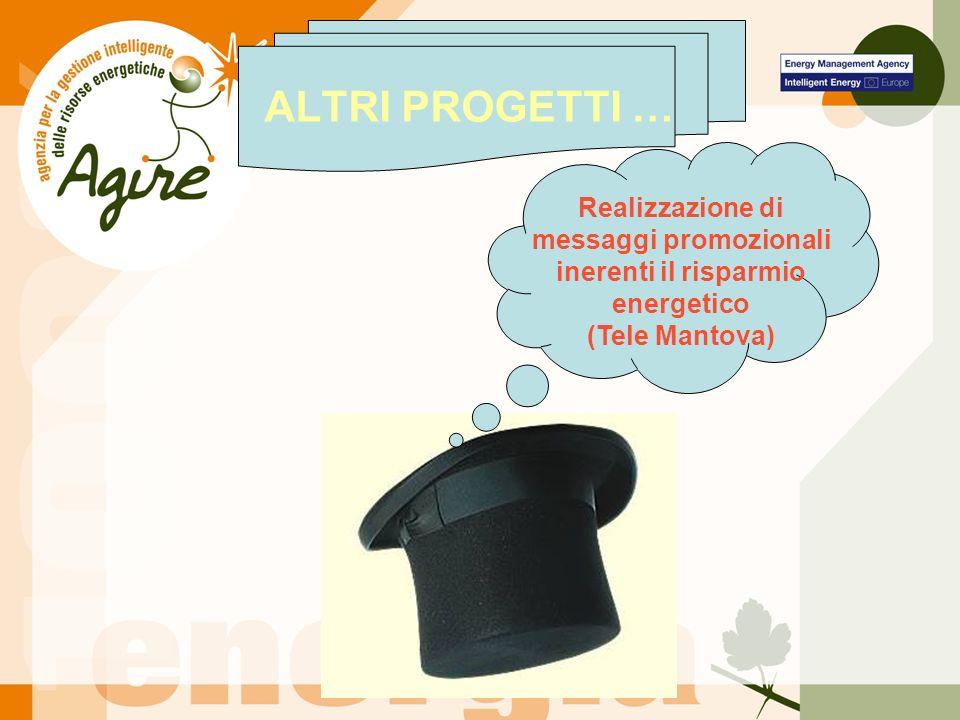 Realizzazione di messaggi promozionali inerenti il risparmio energetico (Tele Mantova) ALTRI PROGETTI …