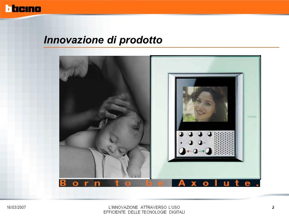 16/03/2007 LINNOVAZIONE ATTRAVERSO LUSO EFFICIENTE DELLE TECNOLOGIE DIGITALI 3 My Home BTicino