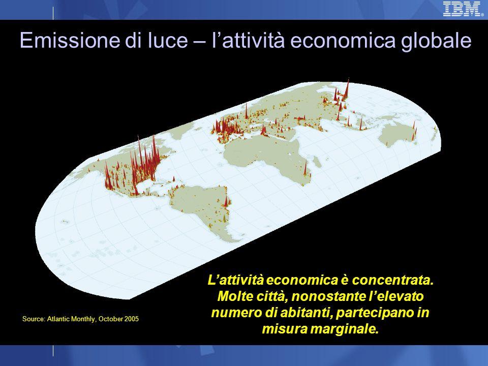 Lattività economica è concentrata.