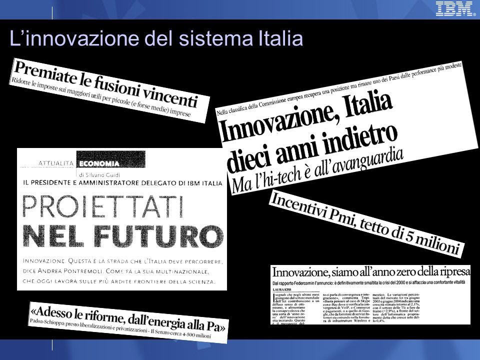 Linnovazione del sistema Italia