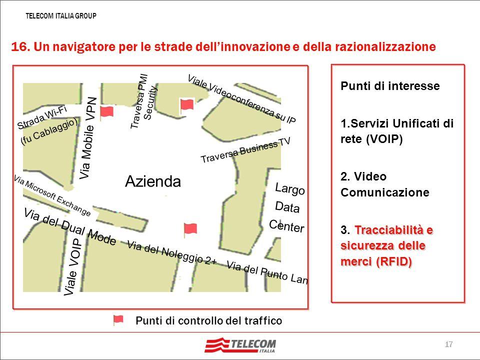 16 TELECOM ITALIA GROUP Levento: Telecom Italia, in collaborazione con il fornitore Feedback Italia, ha organizzato un evento diviso in due tranche, i