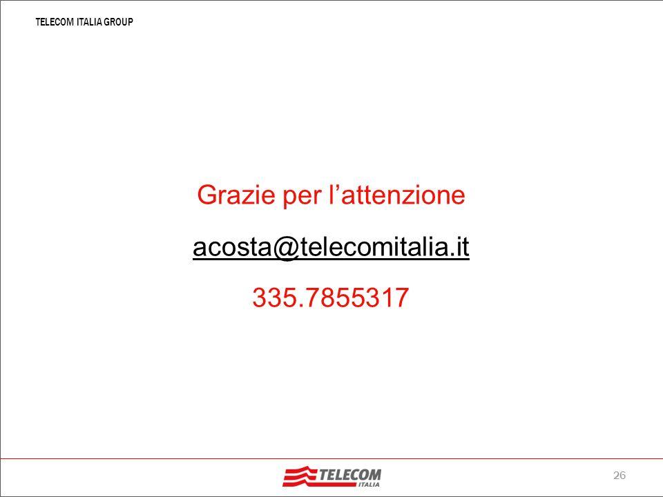 25 TELECOM ITALIA GROUP 24. Un caso di successo: Industrie Tessili Nardelli (ITN) LAzienda: la Industrie Tessili Nardelli, importante realtà manifattu