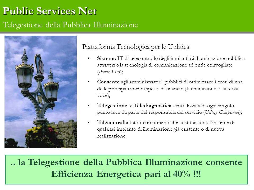 Piattaforma Tecnologica per le Utilities: Sistema IT di telecontrollo degli impianti di illuminazione pubblica attraverso la tecnologia di comunicazio