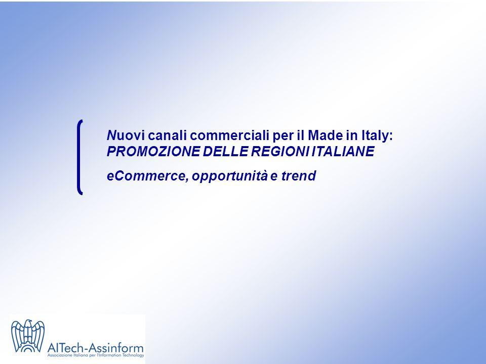 Nuovi canali commerciali per il Made in Italy: PROMOZIONE DELLE REGIONI ITALIANE eCommerce, opportunità e trend