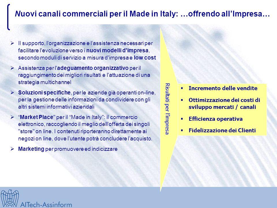 Nuovi canali commerciali per il Made in Italy: Un SISTEMA che consenta allimpresa… … di sfruttare le opportunità del nuovo mercato globale, di interne